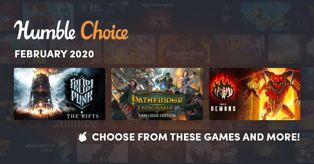 February 2020 Humble Choice Sidebar